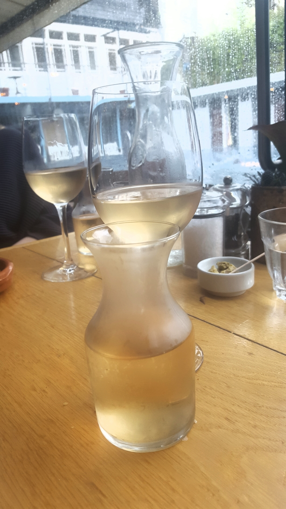 Carafe of white wine