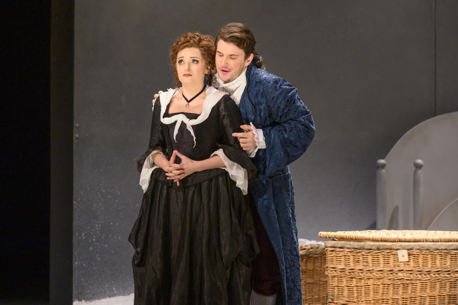 The count embraces Susanna whilst her face shows her worry